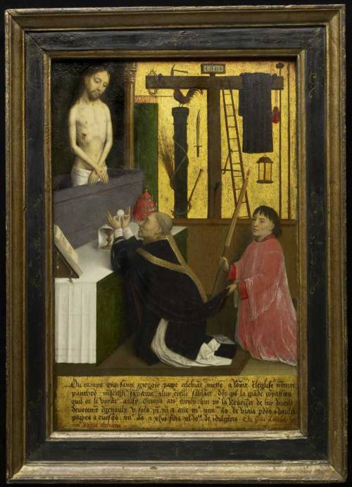 The Mass of St. Gregory, c. 1460 - 1465Simon Marmion, French, c. 1425 - 1489Oil and gold leaf on wood panel, Overall: 45.1 x 29.4 cm,Purchase, 19792012 Art Gallery of Ontario