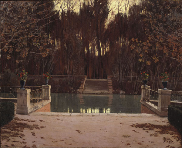 blastedheath:  Santiago Rusiñol (Catalan, 1861-1931), L'embarcador, 1911. Oil on canvas. Museu Nacional d'Art de Catalunya, Barcelona.