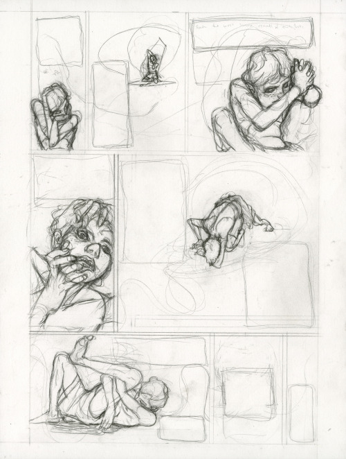 Hansel and Gretel, page 11, pencils, Pierce Hargan (2011)