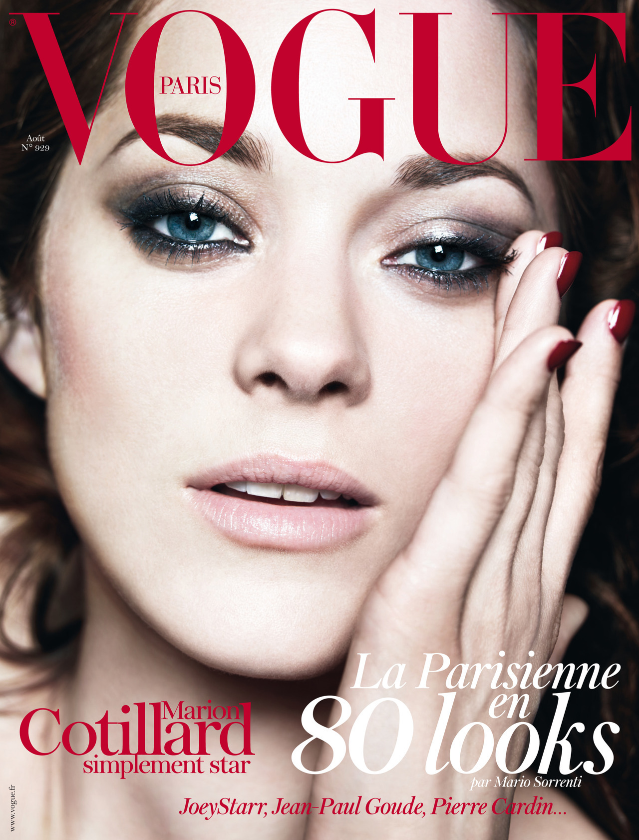 Vogue Paris August 2012: Marion Cotillard by Mario Sorrenti