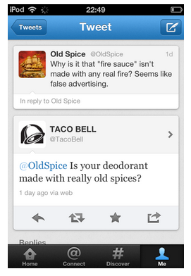 Awesome Twitter exchanges between companies is pretty much why the internet was created!  Credit: @JasonAGross