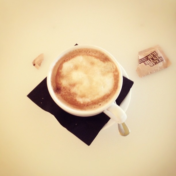 Morning cappuccino… late morning ☕ (Taken with Instagram)