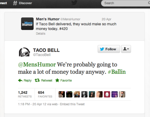 Taco Bell social team is on a roll.