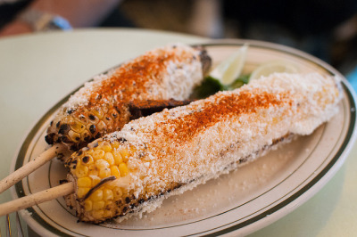michmosh:  Grilled corn from Cafe Habana on Flickr.