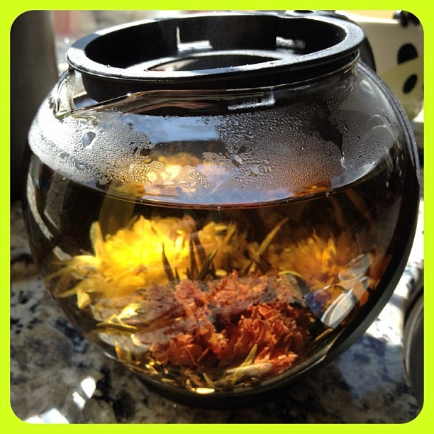Drinking beautiful #tea on a #beautiful day #flowertea #flower (Taken with Instagram)