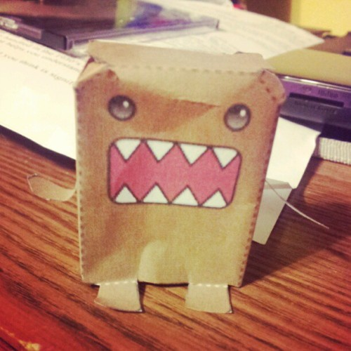 #my #paper #domo #I #made. #whaddup #legit #legitimate. #craft #crafts #crafty #brown #cheesin (Taken with Instagram)