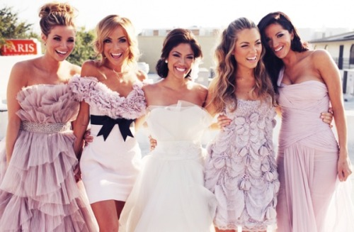 When I get married, I will let my bridemaids get their own dresses, I would hate to have everyone in ugly dresses, knowing me i'd make them all wear lime green prom dresses…