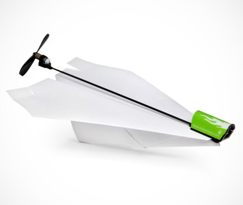 whereisthecoool:  Electric Paper Airplane Kit