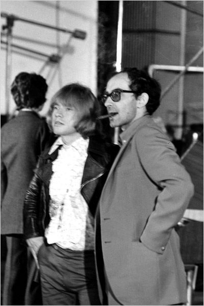 absinthemakesyouawhore:  Brian Jones and Jean-Luc Godard on the set of the 1968 documentary Sympathy for the Devil, originally titled One Plus One by the film director. (via)