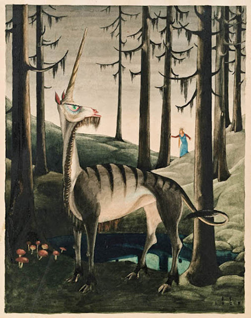 venusmilk:  Franz Sedlacek, The Unicorn, 1925