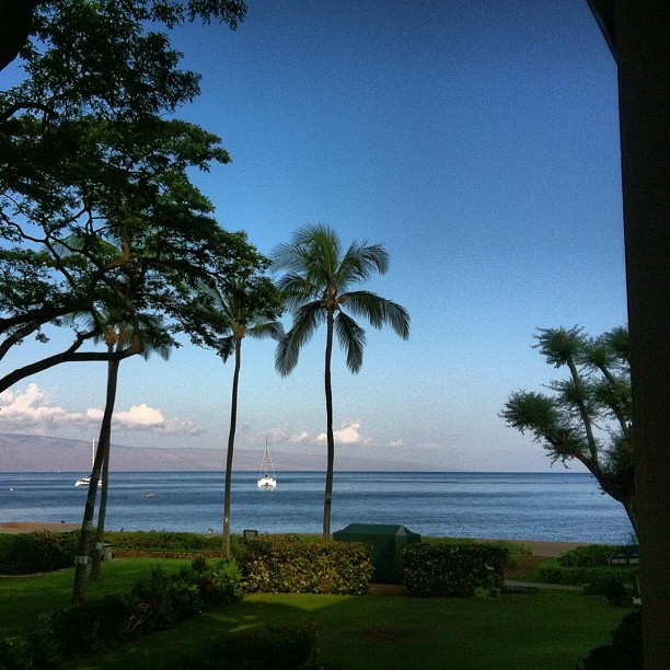 #MyView from the hotel. #Sigh #GodIsGood  (Taken with Instagram at Kaanapali Beach)