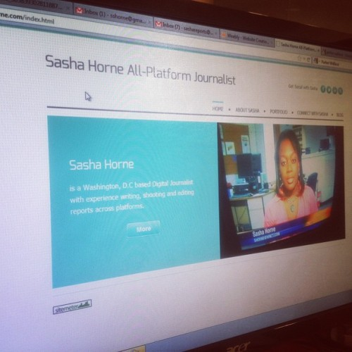 Just revamped my website. Let me know your thoughts! http://www.sashahorne.com (Taken with Instagram)