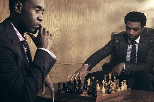 wordsaretimeless:  Don Cheadle and Chiwetel Ejiofor  // ]]]]>]]>