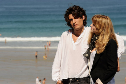 "Léa Seydoux and Louis Garrel attend the ""La Belle Personne"" photocall at the Kursaal Palace during the 56th San Sebastian International Film Festival, September 21, 2008"