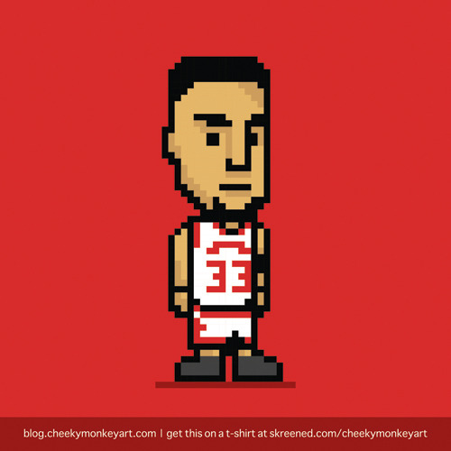 8-Bit Scottie Pippen | Purchase this on a t-shirt, or as a digital print.