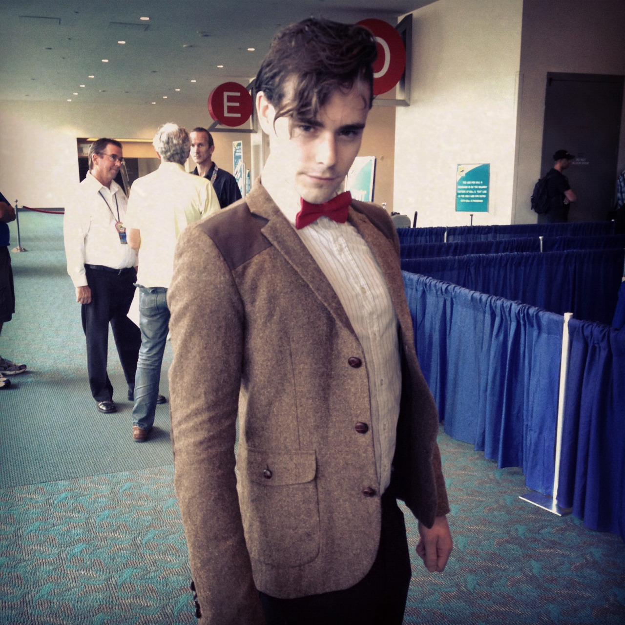 doctorwho:  btw, we ran into our first Eleventh Doctor cosplay as soon as we walked in the door. He doesn't have a Tumblr but his Twitter handle is @twittalot.  So in my friend little Conall's American Adventures he went off to Comic Con and managed to get himself on the official BBC Doctor Who Tumblr…Er, awesome factor's majorly shot straight up there!I'm stealing your sonic screw driver btw <3
