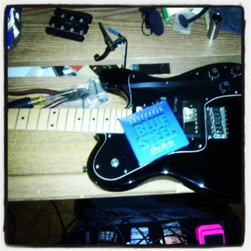 Maintenance time (Taken with Instagram) Gotta love Blue Steel strings.