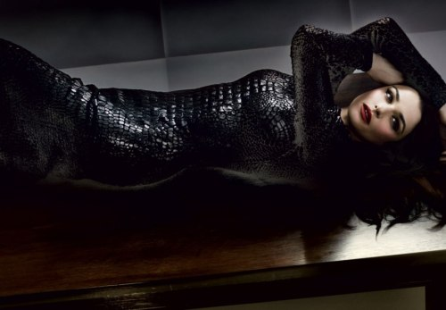 "vanityfair:  Rachel Weisz ""provoking chaos"" in a stunning set of photos. The Bourne Legacy star really knows how to rock a skin-tight Tom Ford dress. Photograph by Craig McDean"