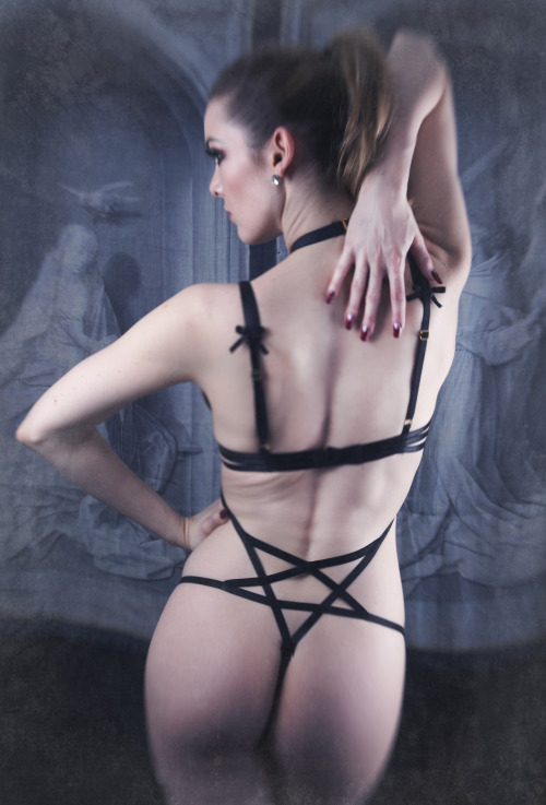If anyone is interested, I have one pentagram playsuit in a UK size 10 available for a discounted £30 (bra not included!) - email me at info@karolinalaskowska.co.uk  Photography - Anna Swiczeniuk Model - Miss Miranda