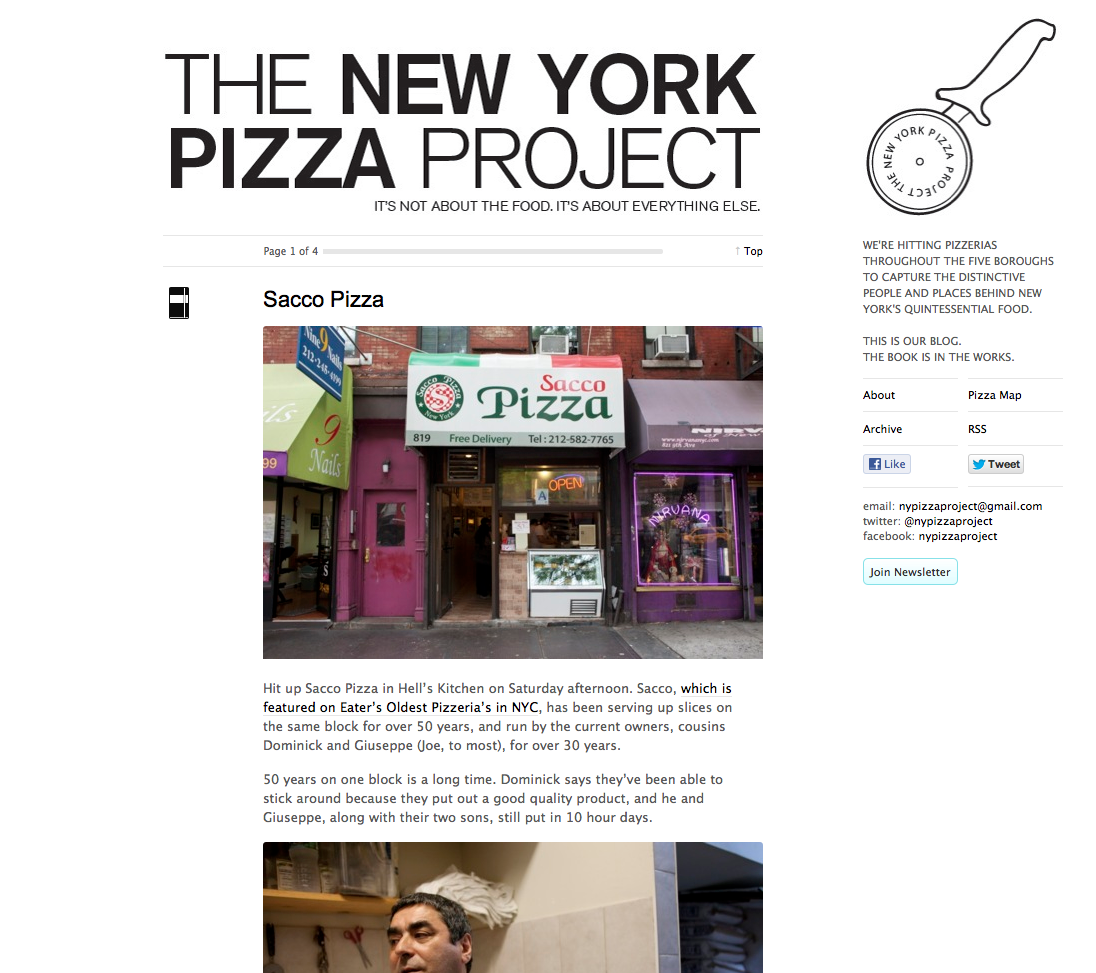 The New York Pizza Project aims to tell the stories behind New York's neighborhood pizzerias.
