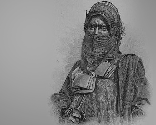 tuareg warrior portrait