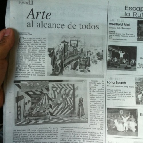 Yay Francisco Morenos exhibition write up. Come see for yourself on the 20th!  (Taken with Instagram)