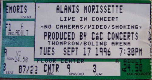 Alanis Morissette Jagged Little Pill Tour 1996