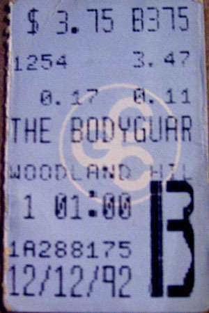One of the 9 times I saw Bodyguard ;0)