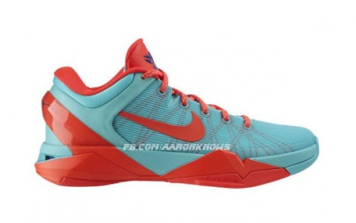 Nike Kobe VII - FC Barcelona just like last year's Kobe VI the Kobe VII will be coming in a FC Barcelona colourway. Pale Blue uppers wtih Orange accents and a Yellow upper with Blue accents colourway and the FCB crest on the inside of the tongue.  click here for more pics Related articles Video: Nike Kobe 7 (VII) - What The Kobe (sneakerfiles.com)