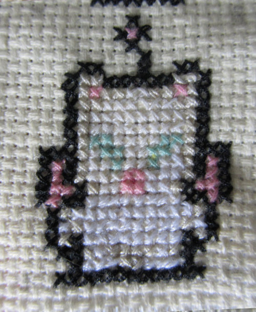 Mog cross-stitch by ~Byakko92 By me