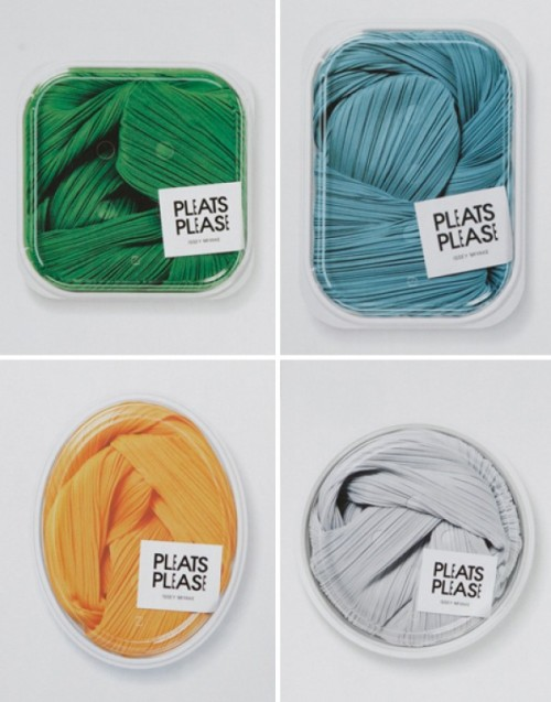 Pleats Please by Issey Miyake packaging by Taku Satoh Design Office.