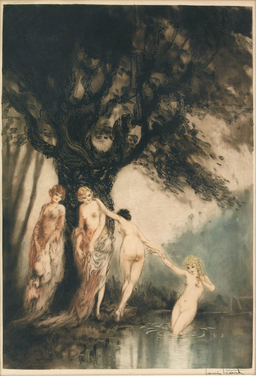 hoodoothatvoodoo:  Bathing Beauties, 1931 Louis Icart