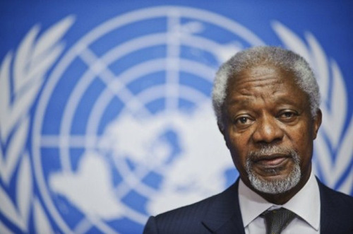 "Annan urges UN to 'reunite' on Syria plan  Annan pushes for ""consequences"" for Syria if it does not follow through with UN calls for ceasefire.  International envoy Kofi Annan has urged the UN Security Council to send a message to the Syrian government andthe opposition that there will be ""consequences"" if they don't comply with demands for an immediate cease-fire. ""We had not been successful so far in ending the violence - this is still a fact today,"" said Annan during a press briefing on Wednesday. ""If we reunite, if the council speaks with one voice, that one voice will be much more powerful."" Russia and China, key allies of Syrian President Bashar al-Assad and veto-wielding council members, have blocked repeated attempts by the United States and its European allies to even threaten ""consequences"" - a diplomatic code word for sanctions. However, Bashar Ja'afari, the Syrian ambassador to the UN said any party calling for sanctions is "" not genuinely supportive of the mission of Mr. Kofi Annan"". A UN diplomat, speaking on condition of anonymity because Annan's videoconference briefing from Geneva was at a closed session, said that the council should insist on implementation of its resolutions including Annan's six-point peace plan. That plan calls for an immediate cease-fire and withdrawal of heavy weapons from populated areas by the Syrian government to be followed by an opposition cessation of hostilities. Al Jazeera's Scott Heidler, reporting from the UN in New York, said there is also talk of a ""bottom up"" approach. ""That is, work on the grassroots level politically to set up some kind of infrastructure, so that when peace talks do eventually come into play, they have that infrastructure there so they can start negotiating,"" said Heidler. The UN sent a 300-strong unarmed observer mission for 90 days to oversee the cessation of violence and monitor implementation of the Annan plan. It was forced to withdraw from key conflict areas because of the escalating fighting and the council must decide what to do about extending its mandate which expires on July 20. Pictured: Annan said that both Iran and Iraq have committed to supporting his six point peace plan for Syria [AFP]"