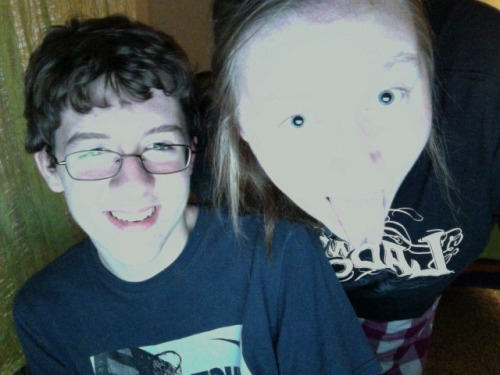 This was yesterday, but hello brother. And blue, blue eyes.