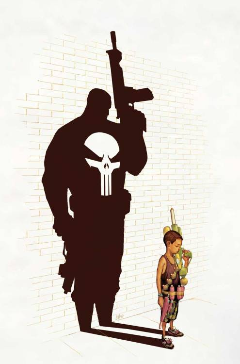 Punisher Max Untold Tales #5 by Mike del Mundo Did up a really fun cover. Have to give credit to Skottie Young for the insane storyline he wrote. It definitley game me a brain storm. Make sure to blow it up and check out them badass Punisher Sneaks!WaterFight!!Enjoy!Below is the synopsis on the story due out in October. Be sure to pick it up. Untold Tales of Punisher MAX #5 (of 5)SKOTTIE YOUNG (W) • TBD (A)Cover by MIKE DEL MUNDO• The Punisher learns the hard way that vigilanteism only breeds more vigilantes when the ten-year-old son of one of his victims decides to take revenge on the man who killed his father. 32 PGS./Explicit Content …$3.99THERE IS A STRICT NO OVERPRINT POLICY ON ALL MAX TITLES.
