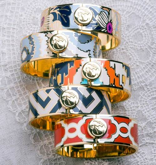 Stacked bangles + your fave bikini = all the beachwear you need.  Spartina 449 Bangles, $45 each, Spartina449.com
