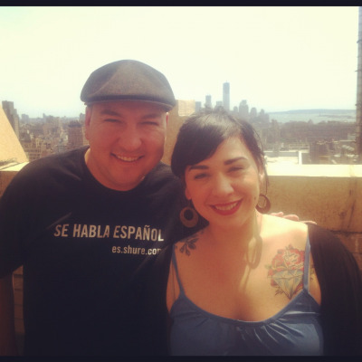Carla Morrison stops by our NYC balcony for a visit with Raul!