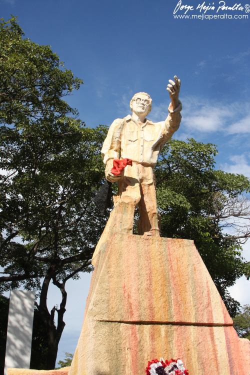 Statue of Carlos Fonseca Amador, founder of the Sandinista National Liberation Front, in Nicaragua. Photo by Jorge Mejia Peralta