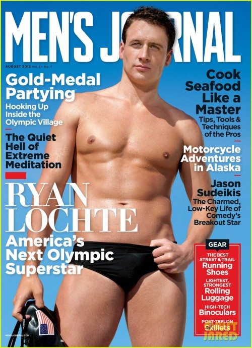 opmbworldwide:  Ryan Lochte shows off his flawless shirtless physique on the August 2012 cover of Men's Journal, on newsstands July 13.