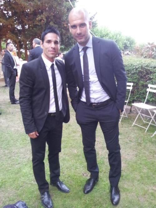 crisaserendipity:  Pep at Iniesta's wedding