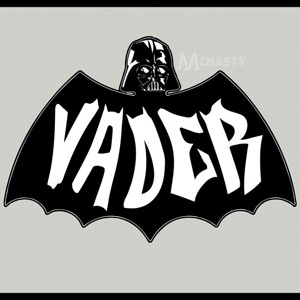 ianbrooks:  Darth Knight Rises by McNasty Shirts and stickers available at redbubble. Va va va va va va va va va vavavava Vaaaaaader!  Artist: Tumblr / Facebook