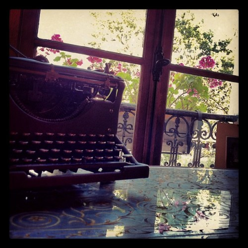 Out the writer's window. (Taken with Instagram at Shakespeare & Company)