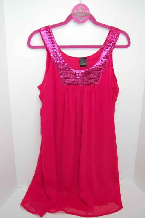 Oxmo hot pink, babydoll dress. New, purchased in Spain!