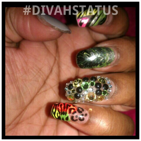 What boredom brings… #divahstatus #bling #nailart