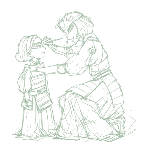 enbouton:  I can imagine little tiny Lin being in awe of the Kyoshi Warriors and getting along really well with Suki.
