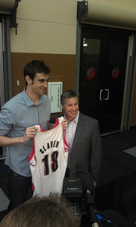 "WELCOME TO RIP CITY, VICTOR CLAVER!!! Remember folks, it's pronounced ""Claw-vair"" unlike the word in the dictionary ""Clay-ver."" Let's not butcher his name like we did with Batum, shall we? via"