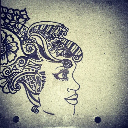 doodling ^_^ (Taken with Instagram)