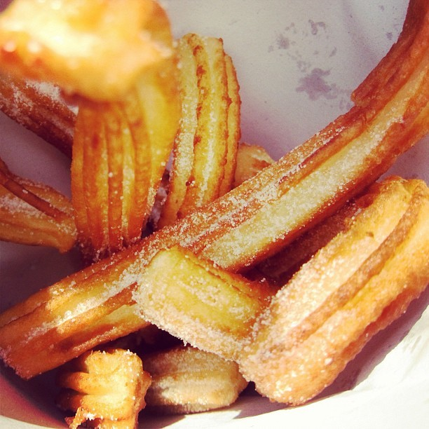 Best. Churros. EVAR. (Taken with Instagram at Placa de Espanya, Barcelona)