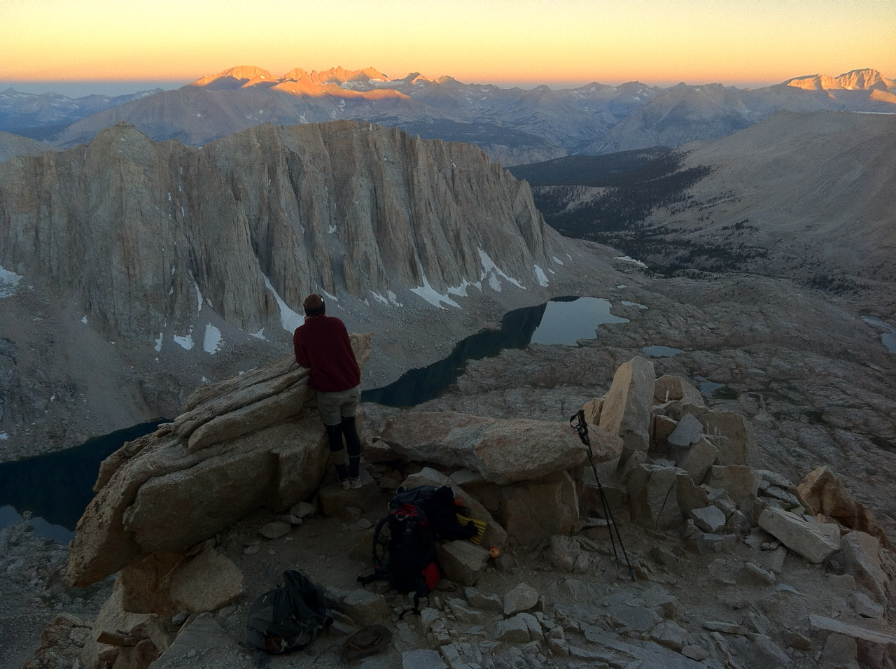 Mt. Whitney Trail Crest sunrise