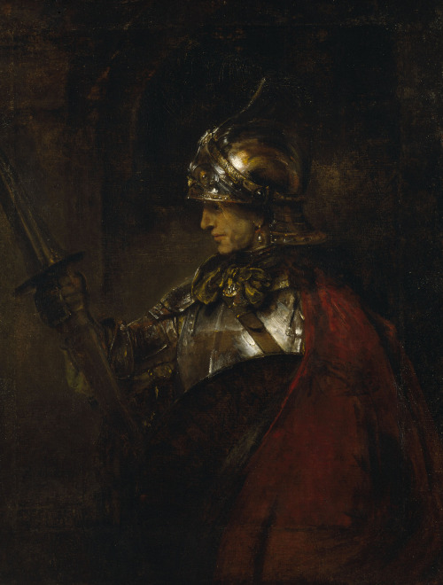 beardbriarandrose:  Rembrandt,  A Man in Armour, 1655